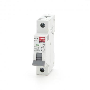 Wyłącznik nadprądowy, bezpiecznik KOOP Elektro B6A LSS B6 1P