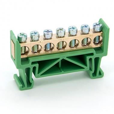 Listwa zaciskowa 7 - torowa mostek 7P zielona LZ-7G