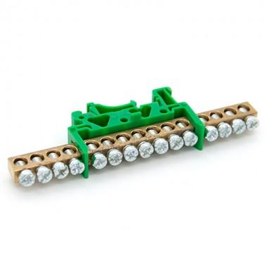 Listwa zaciskowa 10 - torowa mostek 10P zielona LZ-10G